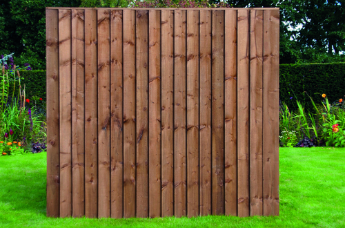 Feather Edge Fence Panel 1.83m(W) x 1.65m(H) Dip Treated