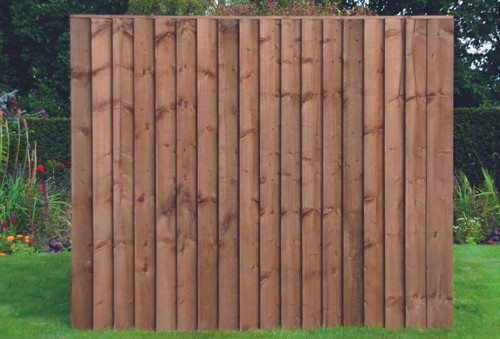 Feather Edge Fence Panel 1.83m(W) x 1.5m(H) Dip Treated