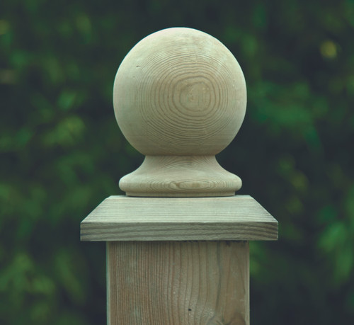 75mm Ball Finial - Pressure Treated (Natural)