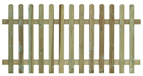 Picket Fence Panel 1.8m(W) x 900mm(H) Round Top