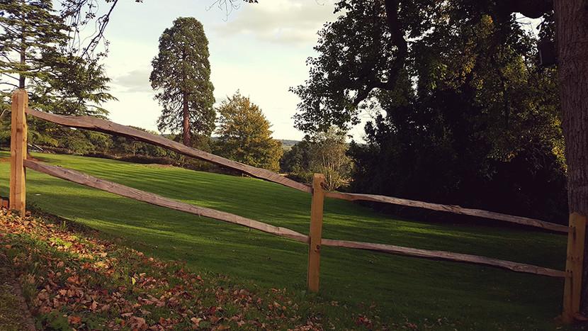 Chestnut Fencing Installation - Post & Rail