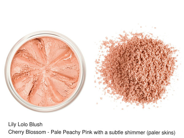 Lily Lolo Blush Cherry Blossom - Pale peachy pink with a subtle shimmer (paler skin)