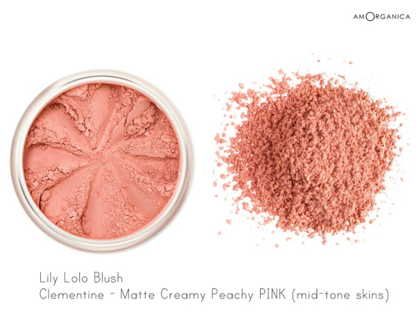 Lily Lolo Blush Clementine - Creamy matte peachy pink (mid-tone skin)