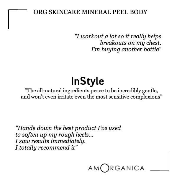 ORG Skincare Organic Mineral Peel Body