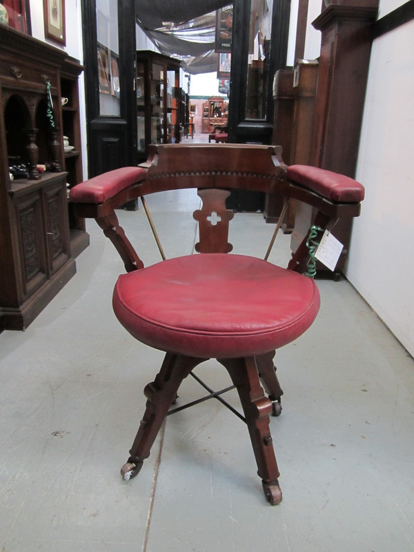 Swivel Antique Office Chair