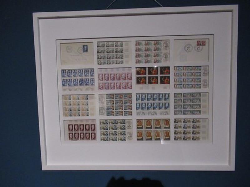 Framed French stamps