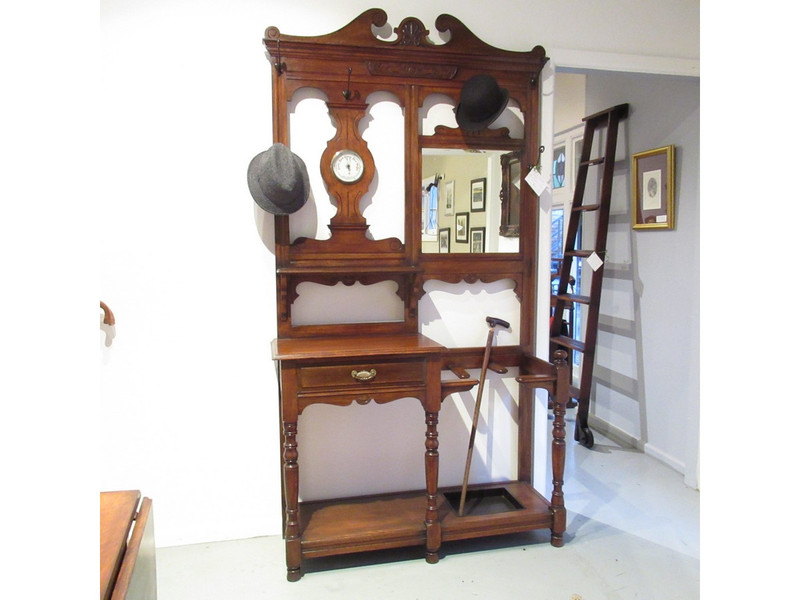 A special Scottish Oak hall stand with barometer