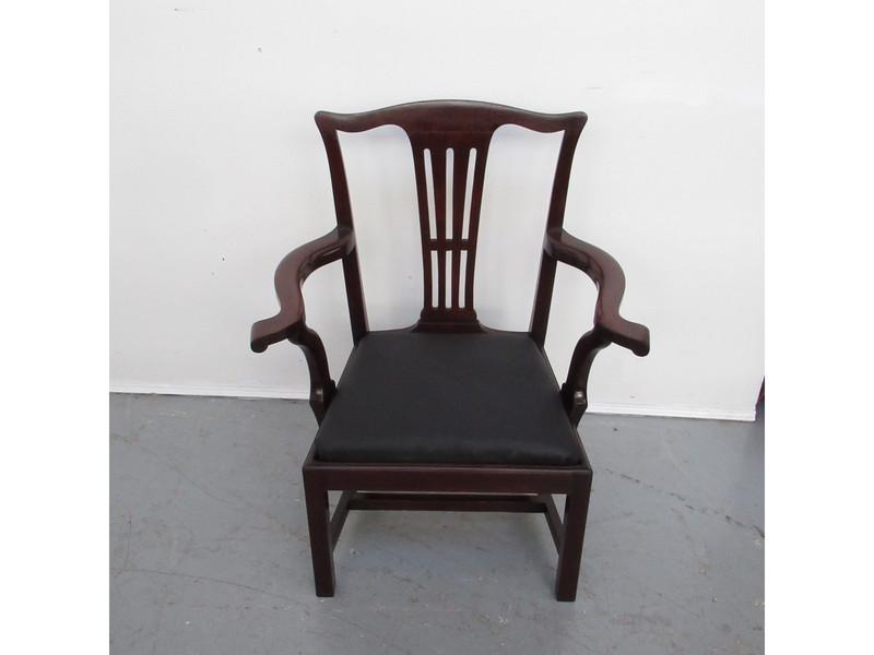 Large Georgian mahogany carver chair