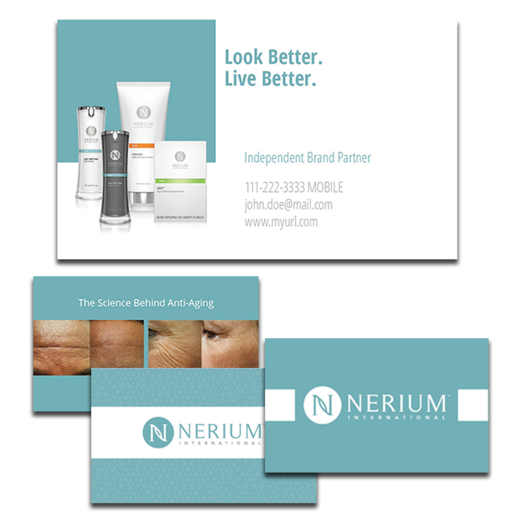 look better build your own business card shop nerium