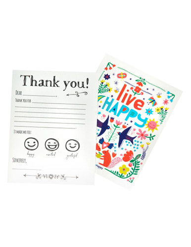 Thank You Cards - Flower Postcard (20 pack)