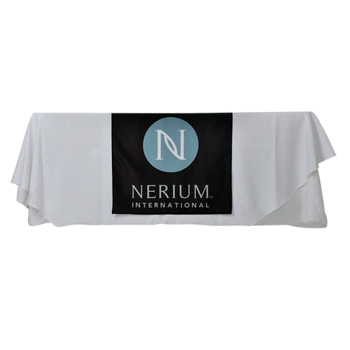 Nerium Black Table Runner
