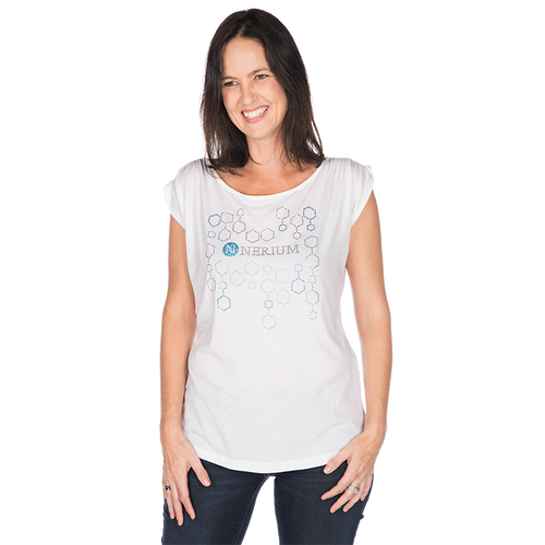 Nerium  Gathered Bling Shoulder Tee