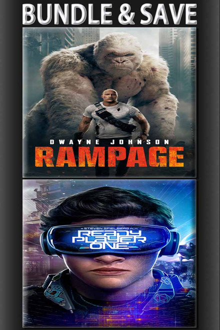 Rampage + Ready Player One BUNDLE [UltraViolet HD or iTunes via Movies Anywhere]
