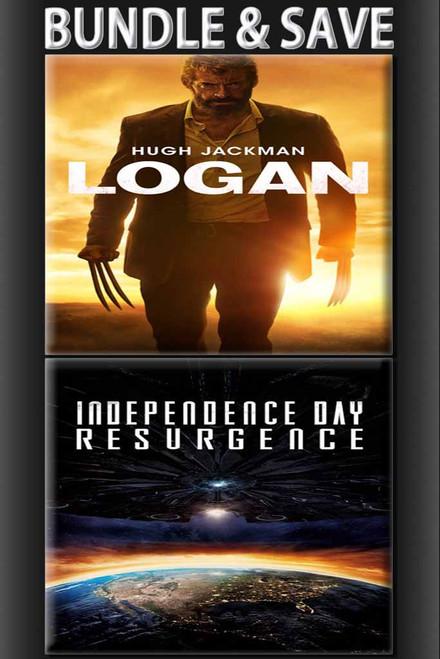 Logan + Independence Day Resurgence BUNDLE [UltraViolet HD or iTunes via Movies Anywhere]