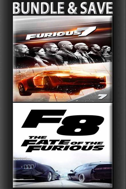 Furious 7 Extended + Fate Of The Furious Extended BUNDLE [VUDU or iTunes via Vudu]