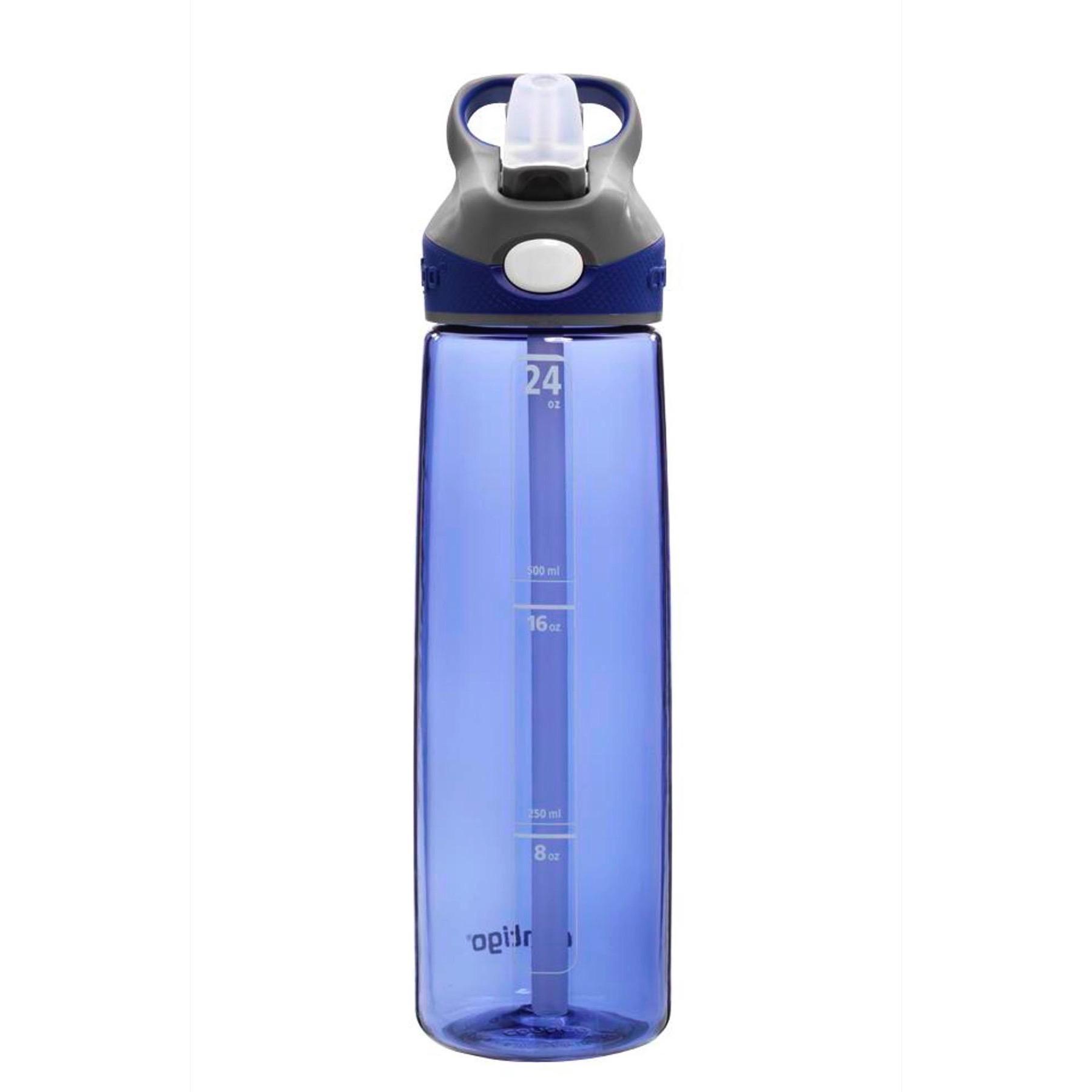 Contigo AUTOSPOUT Addison 24oz Water Bottle Cobalt Blue /& Smoke Gray w// Straw