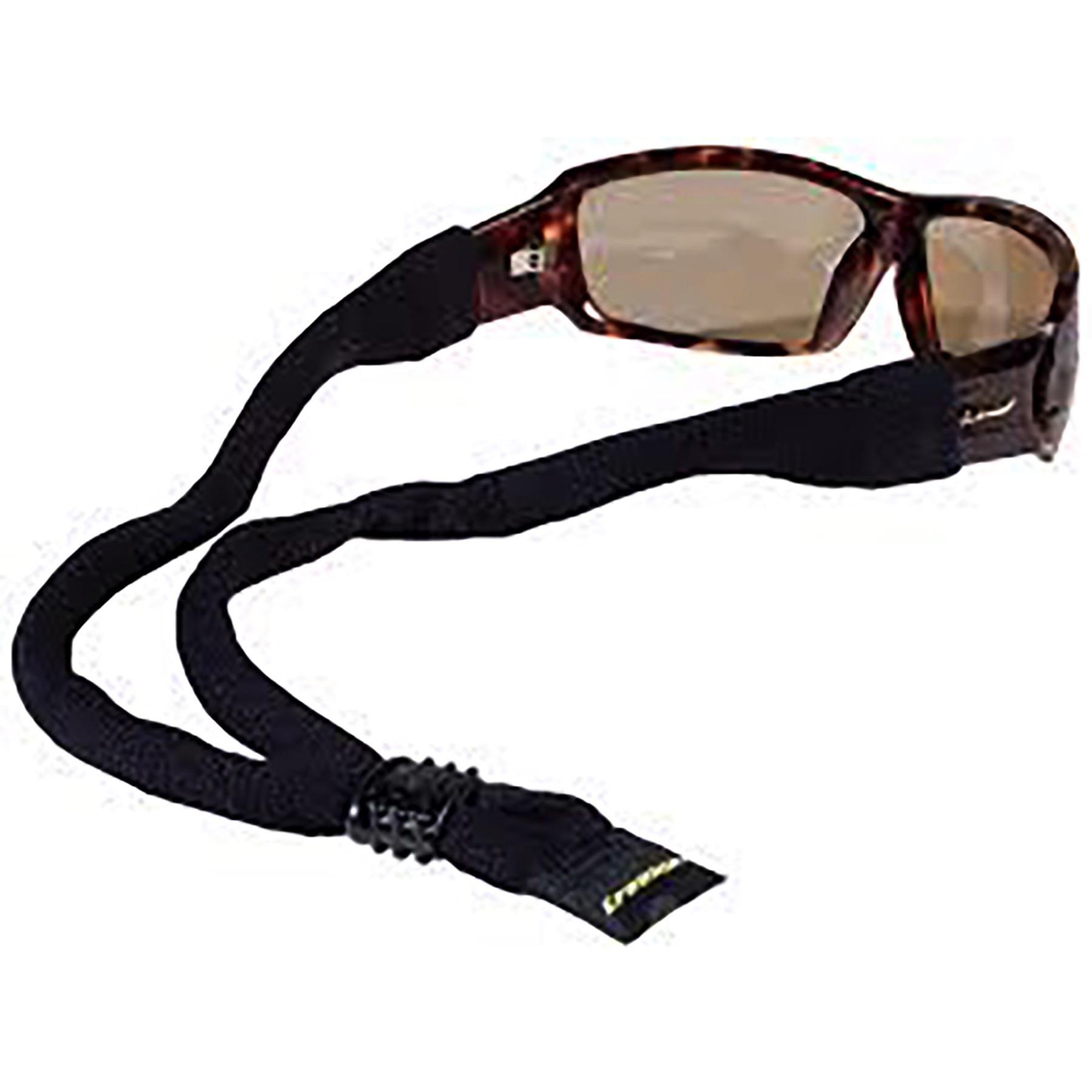 Croakies Original Eyewear Retainer Black Sunglasses Strap Adjustable 6-Pack