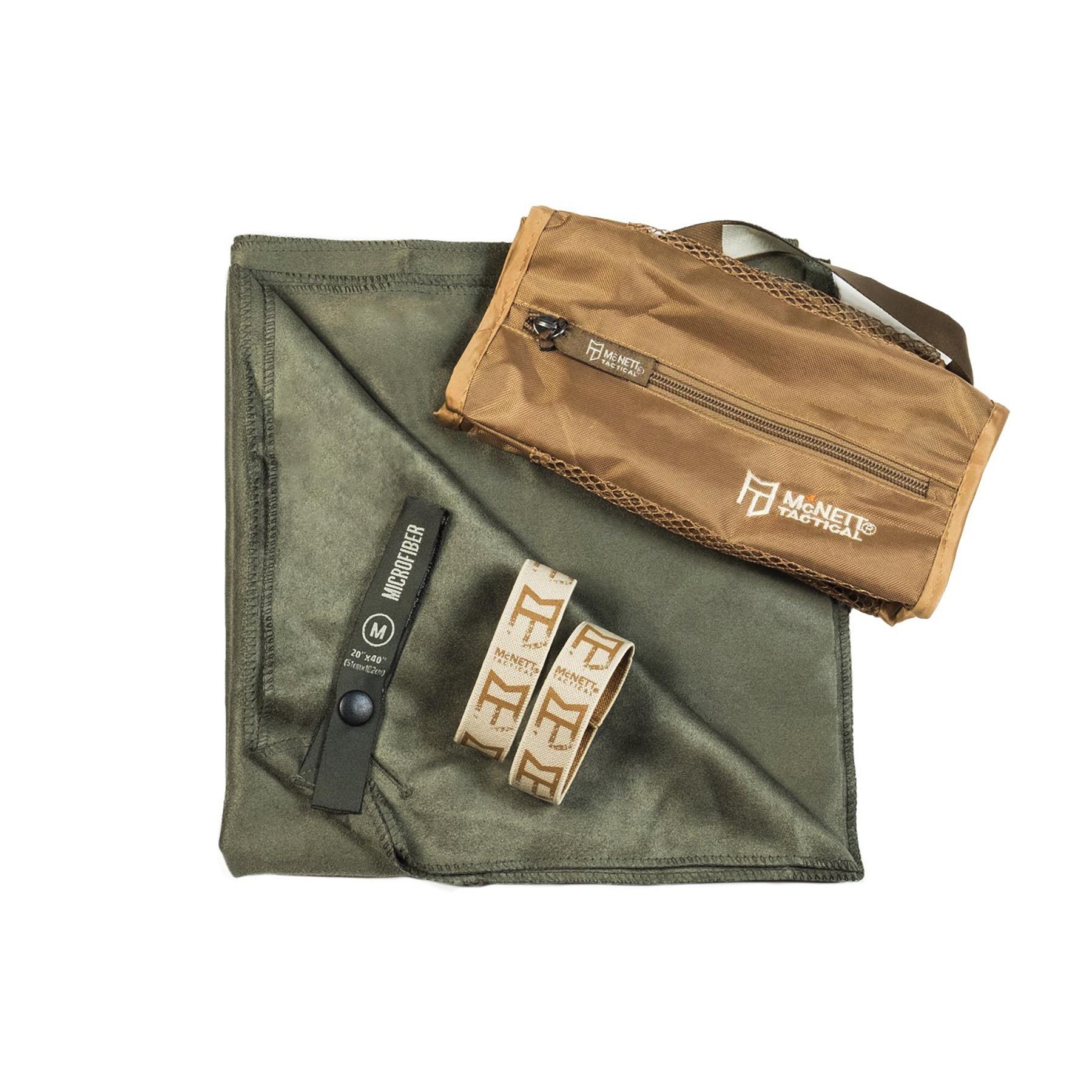 Gear Aid McNett Tactical Ultra Compact Microfiber Towel /& Bag Green Medium Camp