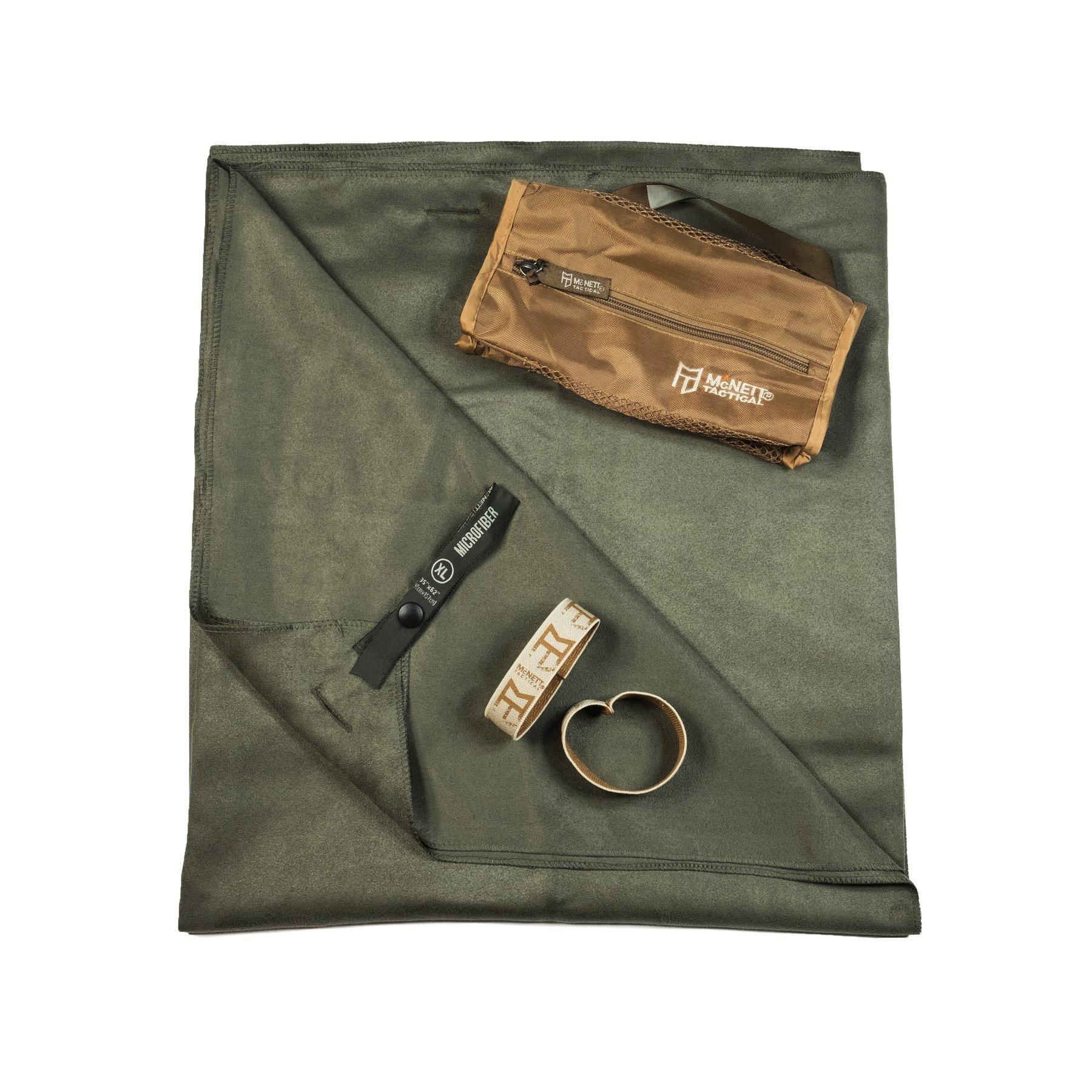 Gear Aid McNett Tactical Ultra Compact Microfiber Towel /& Bag Green X-Large Camp