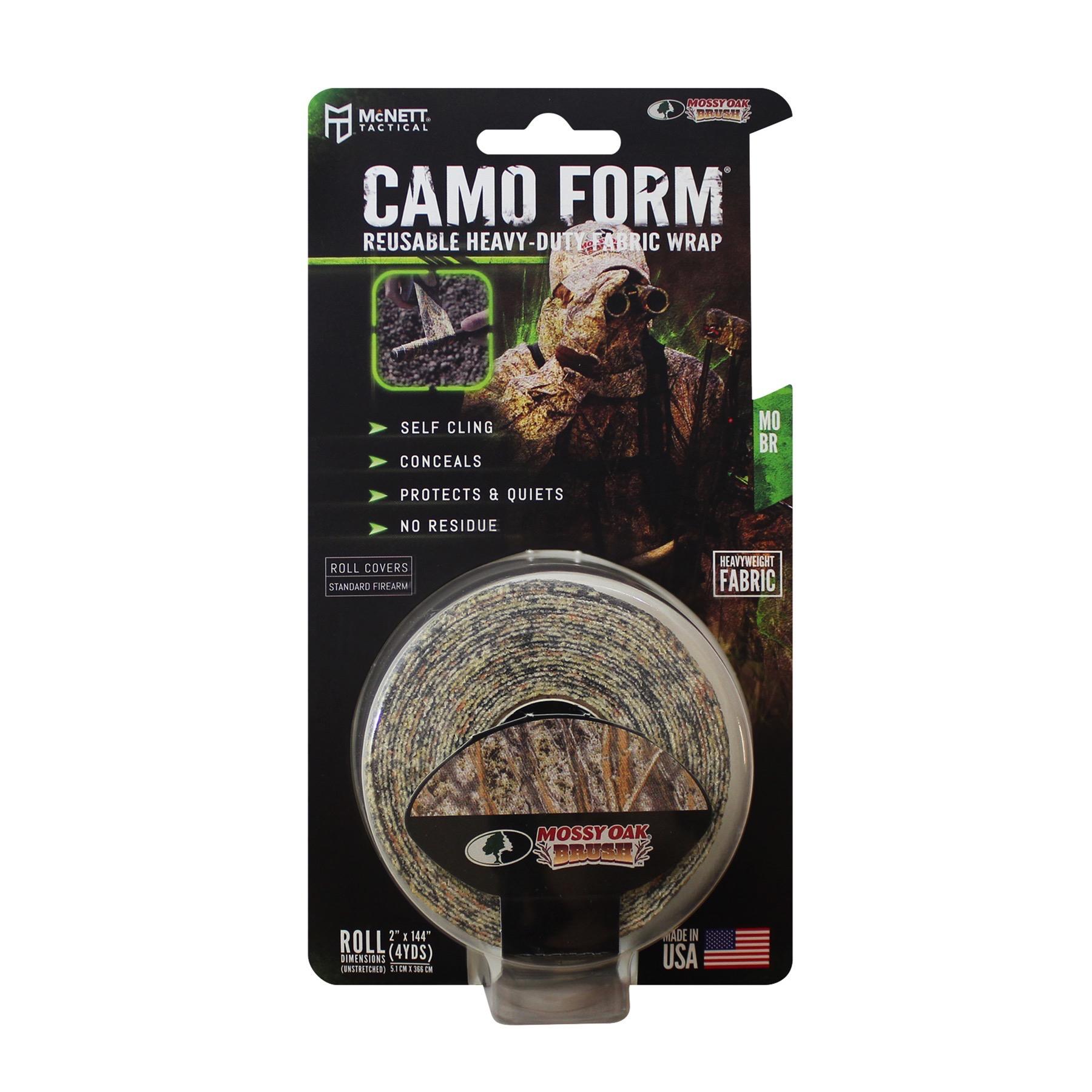 "Camo Form I Self Cling Fabric Wrap I Mossy Oak Grass Pattern I  2/"" x 4 Yd"