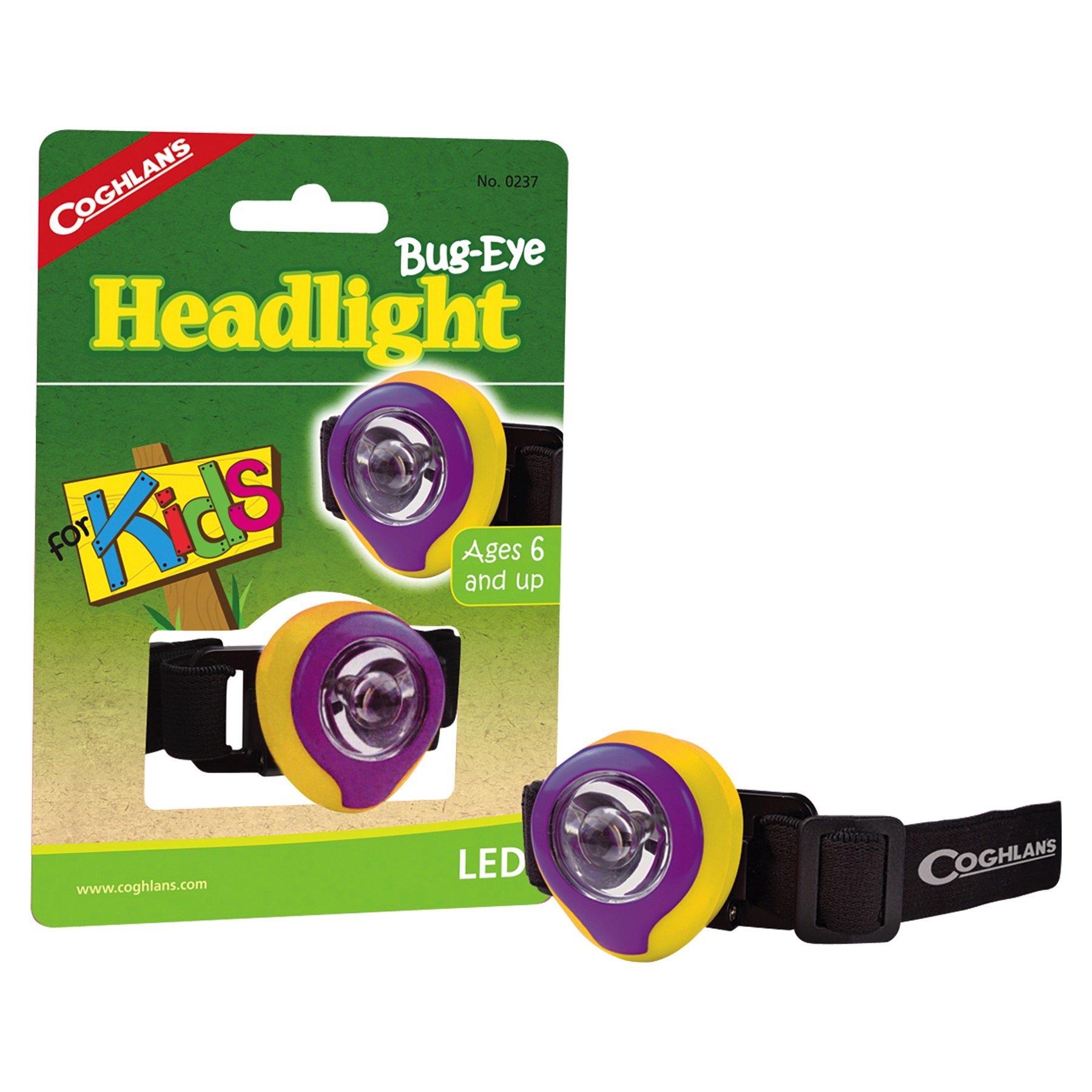 Coghlan/'s Bug-Eye Headlight for Kids LED Headlamp Compact Lightweight 4-Pack