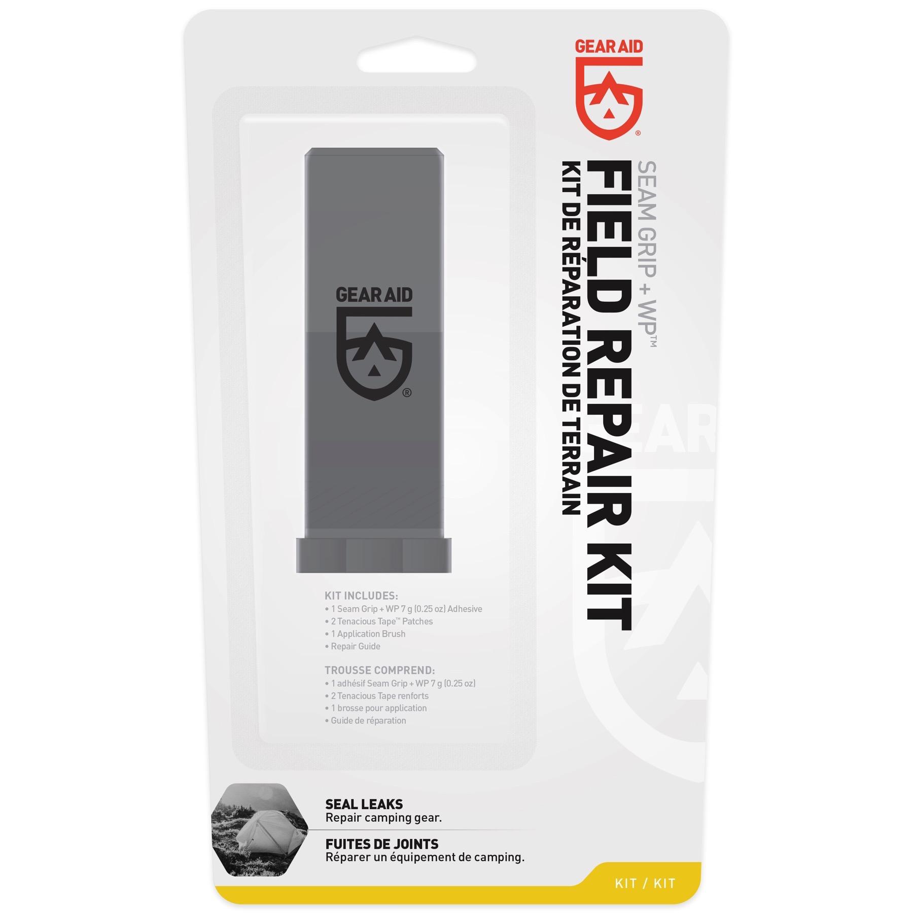 6-pack Gear Aid Seam Grip WP Champ Kit De Réparation-tenace Ruban patchs /& Sealer