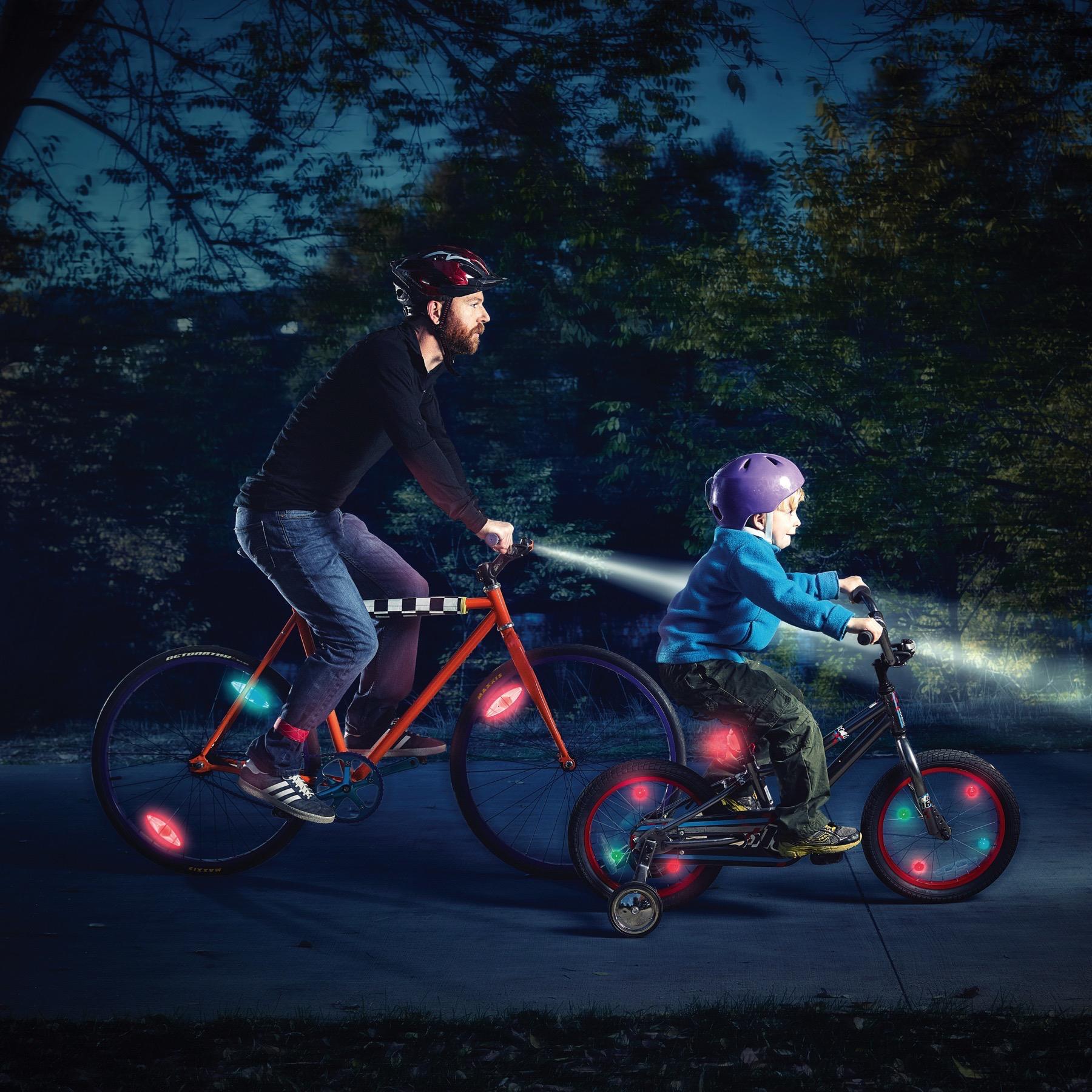 Nite Ize TwistLit LED Bike Light Disco Bicycle Safety Glow /& Flash Modes 2-Pack