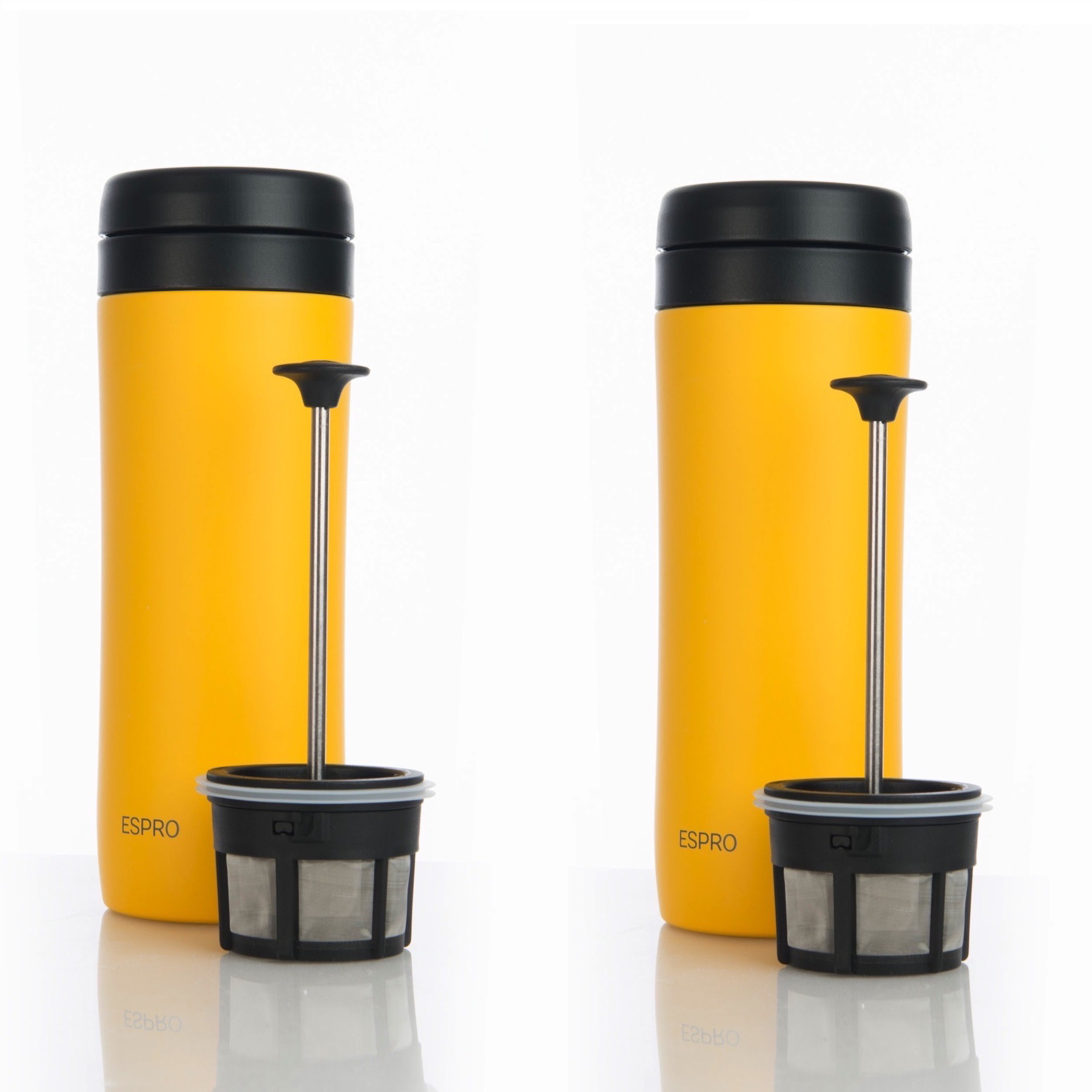9e6e3f71e6e Details about Espro Travel Press Sunshine Yellow w/ Coffee Filter French  Press Mug (2-Pack)
