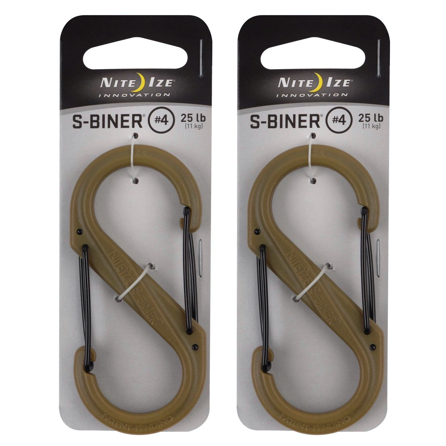 Tan S-Biner Plastic Size #4 Single