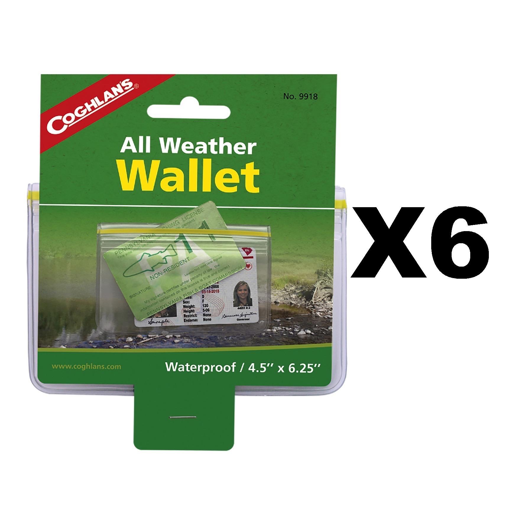 "Coghlan/'s All-Weather Wallet Waterproof Zip-Lock Dry Pouch Outdoor Gear 4.5x6.5/"""