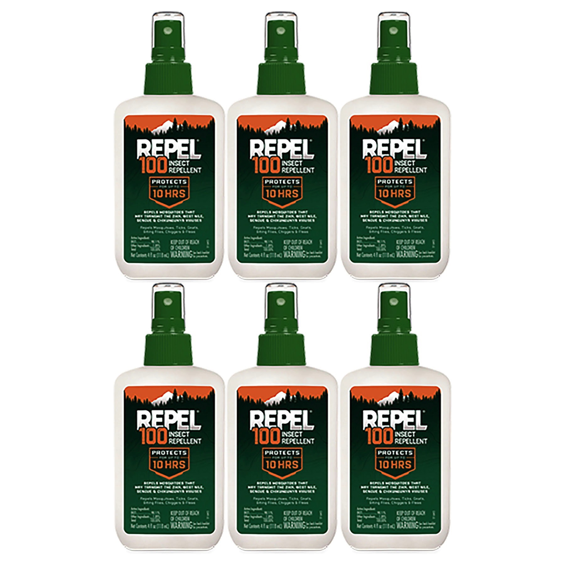 Repel 100 Insect Repellent Pump Spray 4oz for Mosquitoes ...