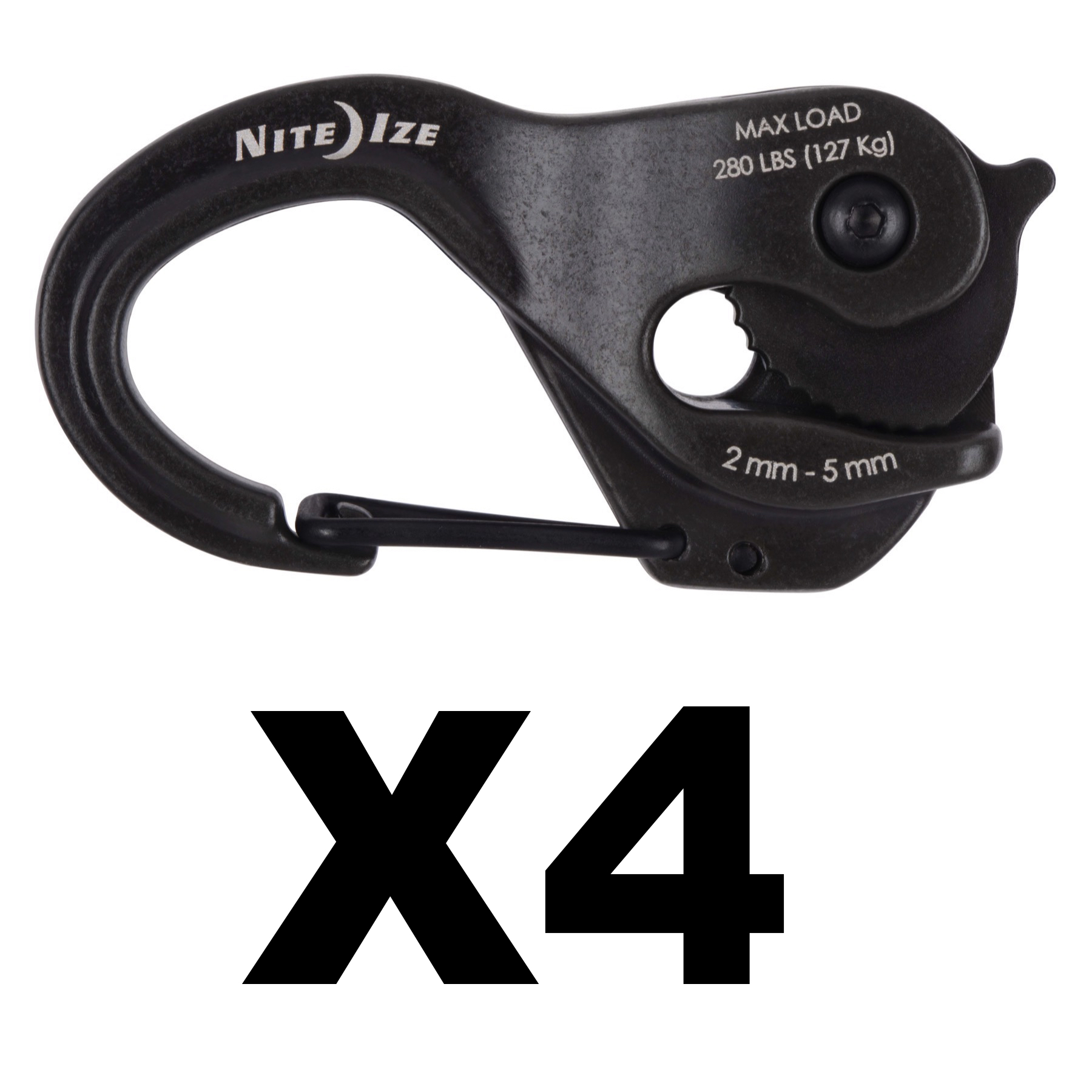 4-Pack Nite Ize CamJam XT Aluminum Rope Tightener w// Rope Heavy-Duty Rugged