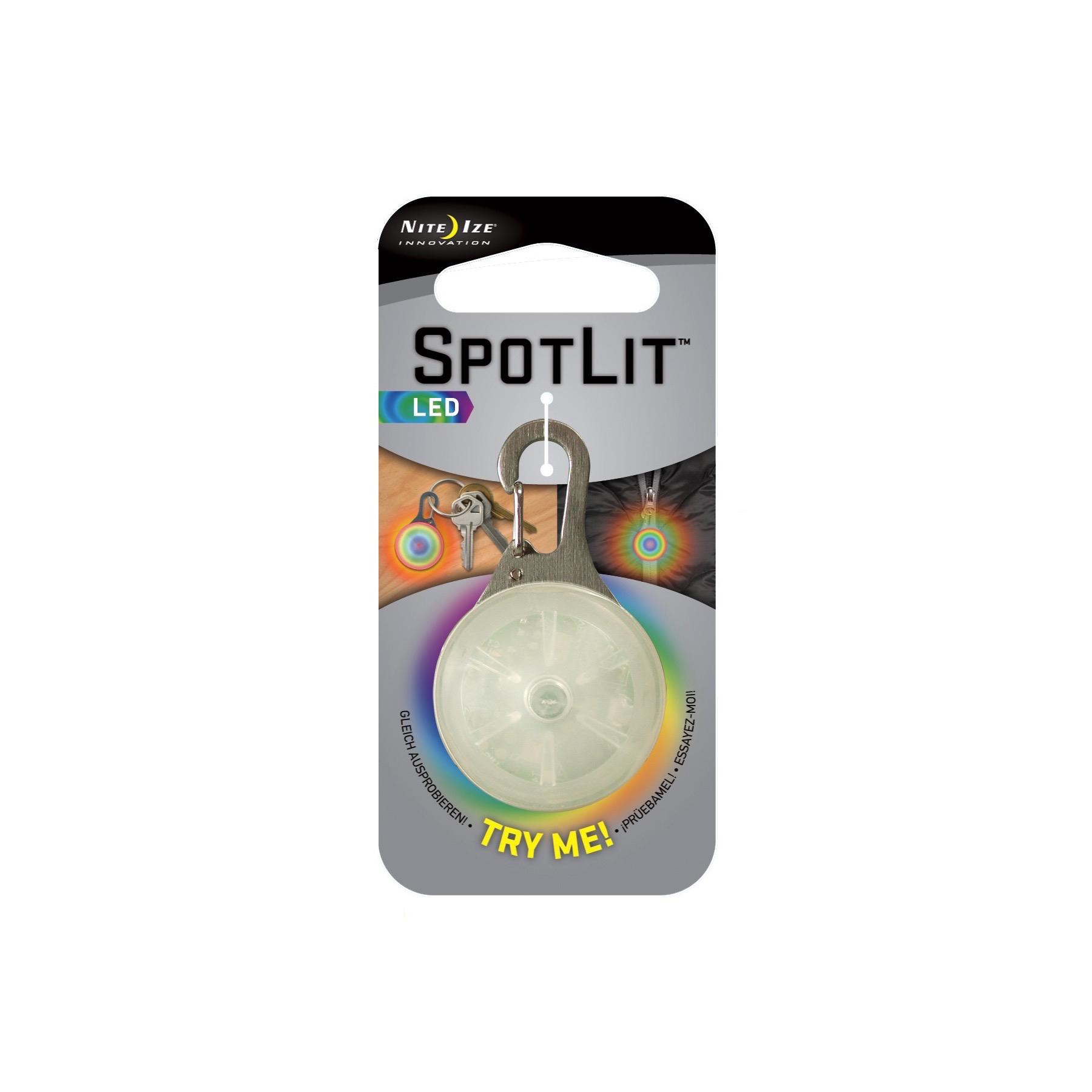 Nite Ize SpotLit LED Carabiner Light Disco Mini Keychain Collar Safety 6-Pack