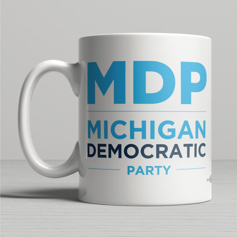"""MI Dems"" Logo Graphic (11oz. Coffee Mug)"