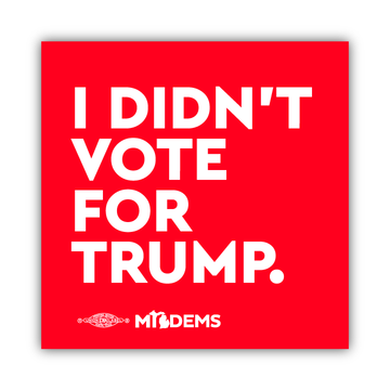 """""""I Didn't Vote for Trump."""" (4"""" x 4"""" Vinyl Sticker -- Pack of Two!)"""