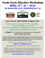 Bio-Char Workshop April 13th - Hendersonville, NC