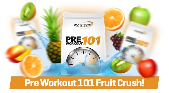 Bulk Labs is here featuring Pre Workout 101 Fruit Crush