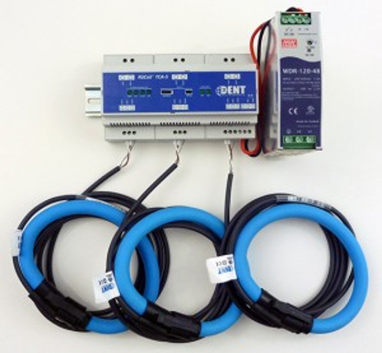 "Dent RoCoil TCA-5 with RoCoil 16"" flexible current sensors."