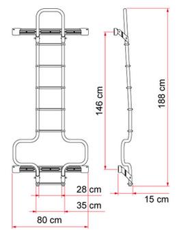 Fiamma  02426-09 Dodge Promaster Deluxe Aluminum Ladder