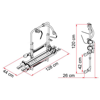 Fiamma  02093-93 Mercedes Sprinter Aluminum Bike Rack