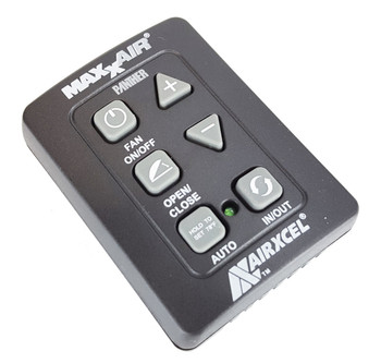 Maxxair 00A03650KIT 6 Button Wall Control for Maxxfan Plus and Deluxe -Black