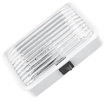 ECO PS100C Standard RV Exterior Porch / Utility Light w/ Switch - White - Incandescent