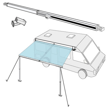 Fiamma 98655A001 Awning Center Rafter Tensioner Arm