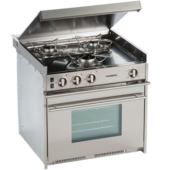 Dometic CU-434 Propane 3-Burner Stainless Steel Stove / Oven
