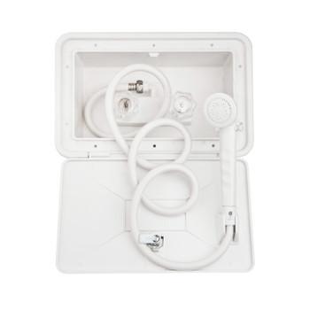 Dura Faucet SA170-WT RV Exterior Shower Box Kit - White