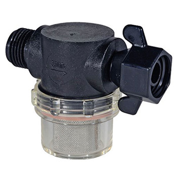 "Shurflo 255-315 Water Pump Strainer 1/2"" Swivel FPT x 1/2"" MPT"