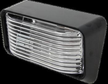 ECO P500C Standard RV Exterior Porch / Utility Light - Black - Incandescent