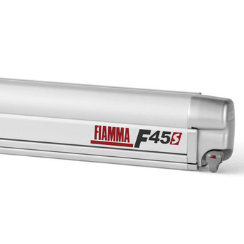 "Fiamma 06290A01DG F45S Awning 3.0m (10'1"") - Titanium Finish Case - Deluxe Grey Fabric"