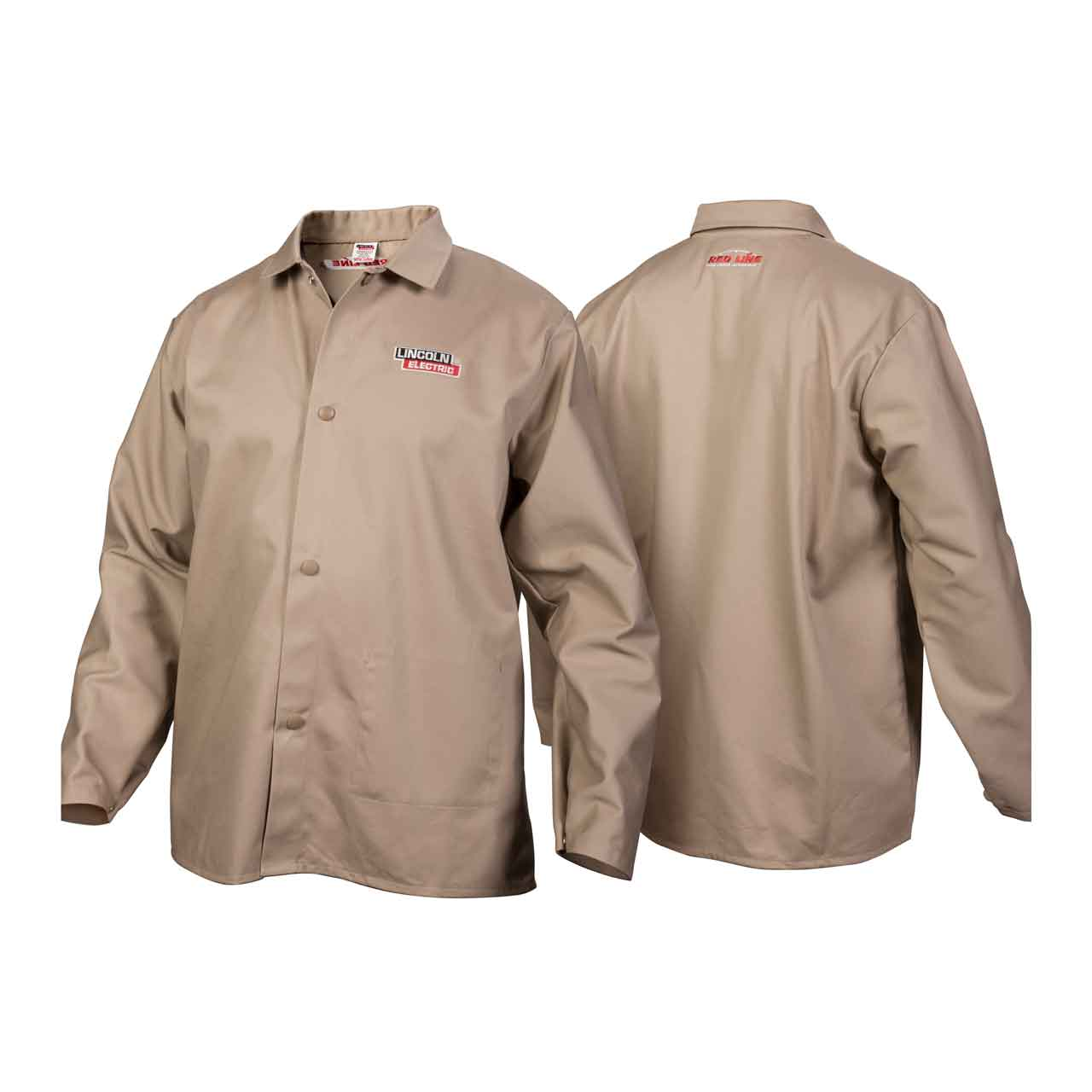 a1d057dabb33 Lincoln Electric K3317 Traditional Khaki FR Cloth Welding Jacket