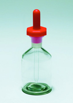 PYREX Dropping Bottle with Glass Dropper, Clear, 100ml